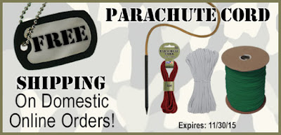 Free Shipping at Parachute Cord Craft