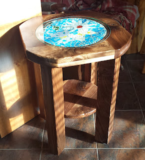 Custom built walnut table, end table, John Huisman, Ely, Minnesota