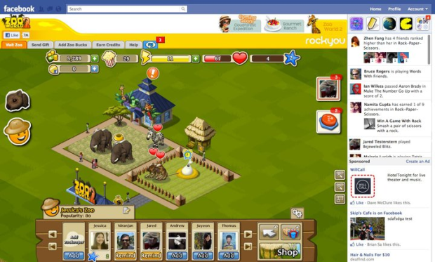 facebook games full screen