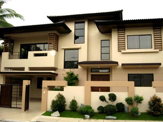 Modern asian exterior house design ideas home decorating for House color design exterior philippines