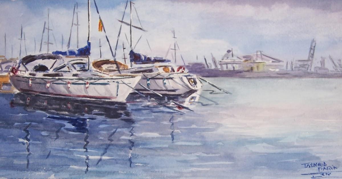 Acuarelas taengua marin marina real puerto de valencia - Laydown puerto valencia ...