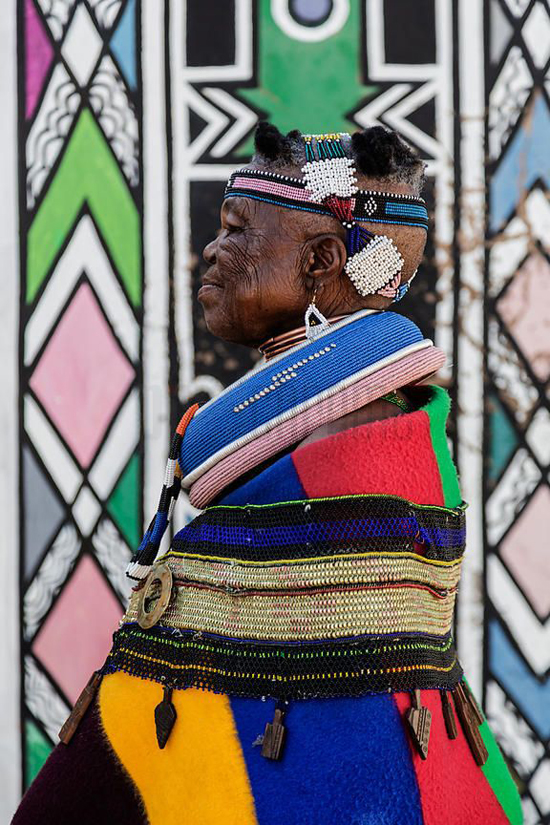 Safari Fusion blog | Geometric design: Ndebele | Colourful African tribal design of South Africa's Ndebele people