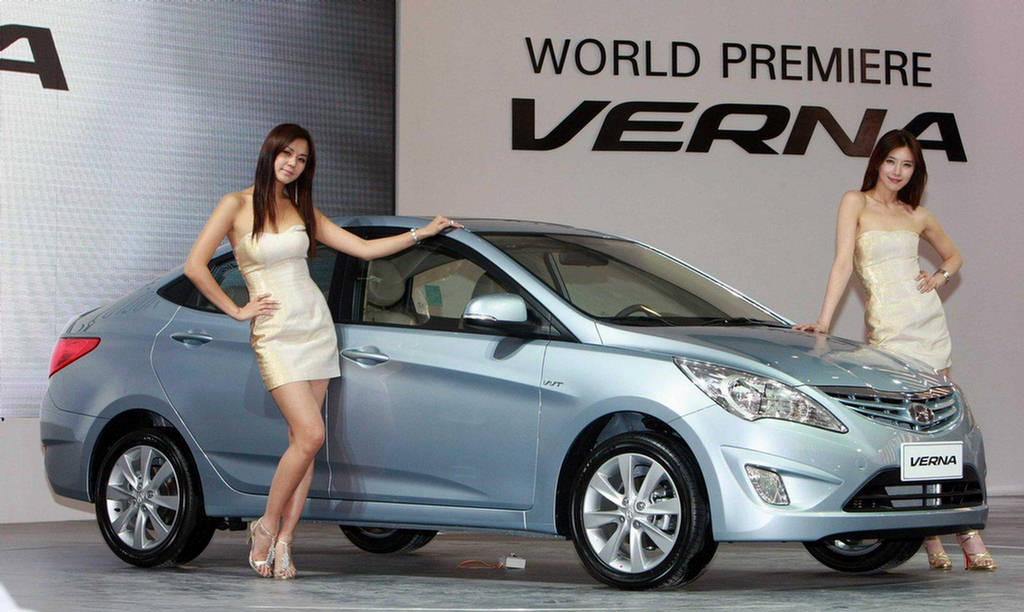 New Car Model 2012  Hyundai Verna Fluidic India 2012