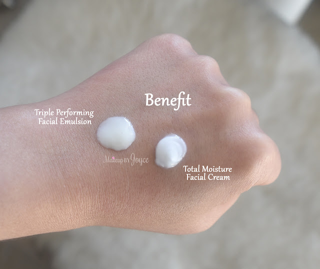 Benefit Total Moisture Facial Cream Swatch