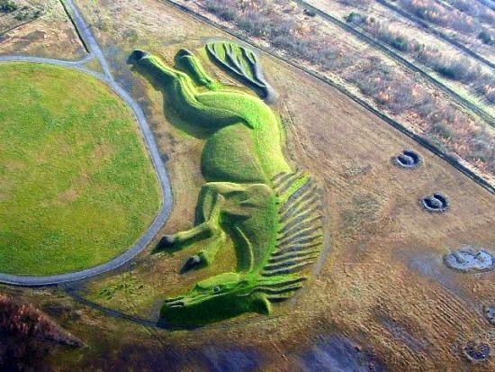 sultan Penallta Park caballo gigante escultura
