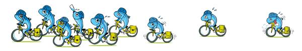 Bikerones en Pelotón - Autora: Natalia Resnik