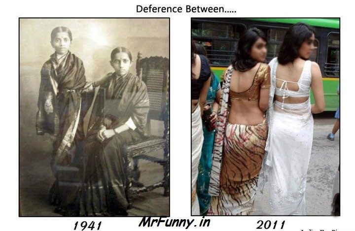 Deference Between Indian Girls 1941 – 2011 Indian Girls Funny Pics