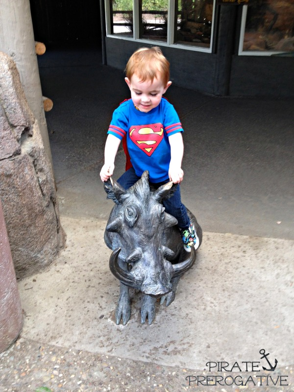 Why not ride a warthog? Toddler logic.