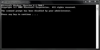 Cara Mengaktifkan Command Prompt (CMD) yang Di-disable Administrator atau Virus