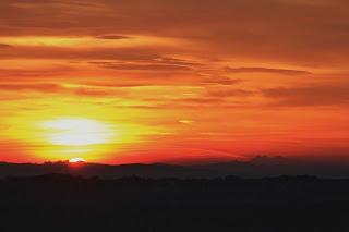 Tatry z Magdalenki o zachodzie słońca, 2015.12.27. fot. Paweł Rzucidło