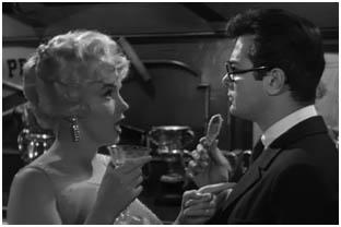 Marilyn Monroe y Tony Curtis en Con faldas y a lo loco