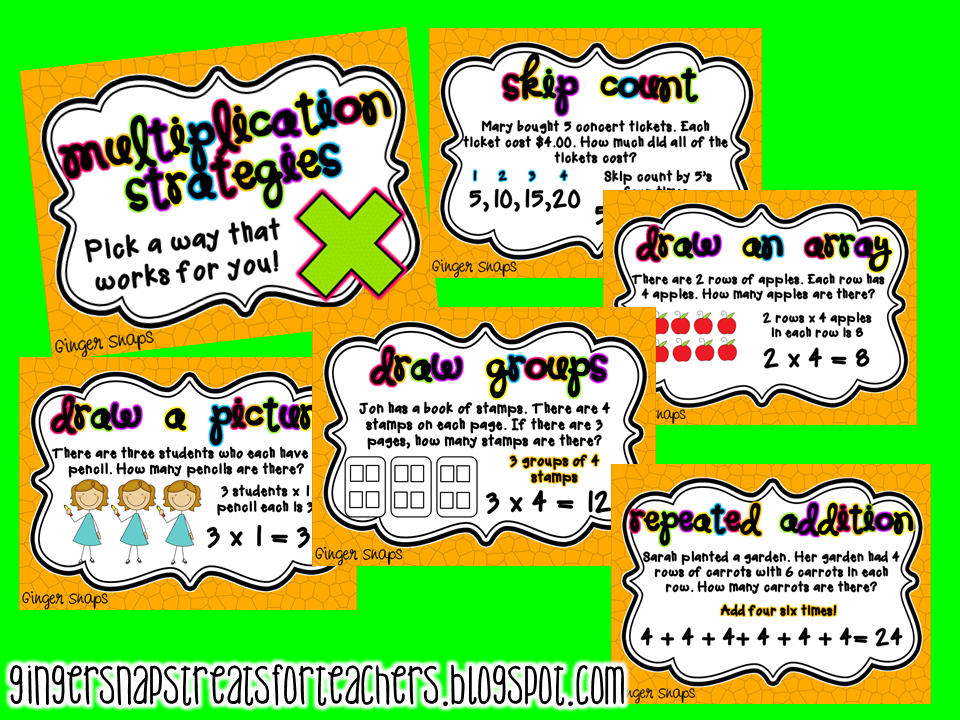 Ginger Snaps: Multiplication Facts Strategies Poster Pack