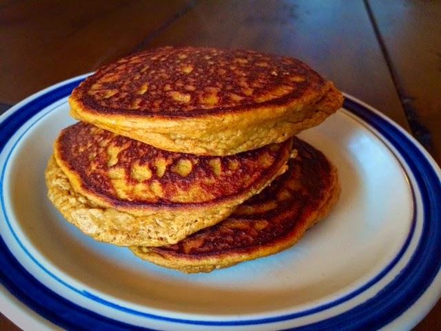 pumpkin chia seed pancakes