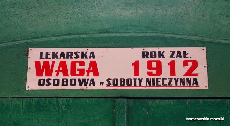 Śródmieście Warszawa park zabytek ważenie 1912 lekarska waga