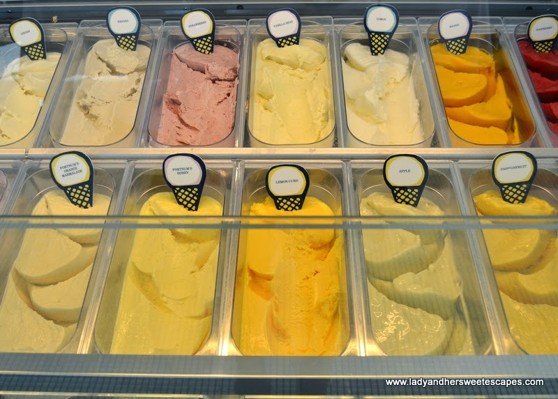 Fortnum and Mason's ice creams