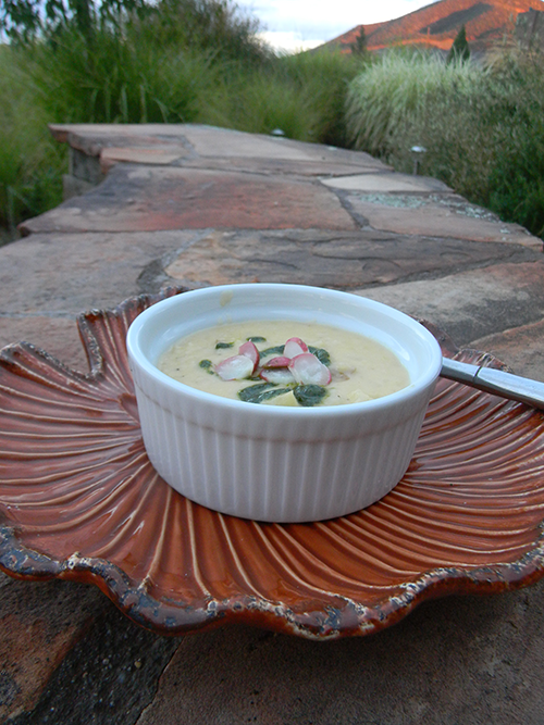 Potato Soup with Radishes