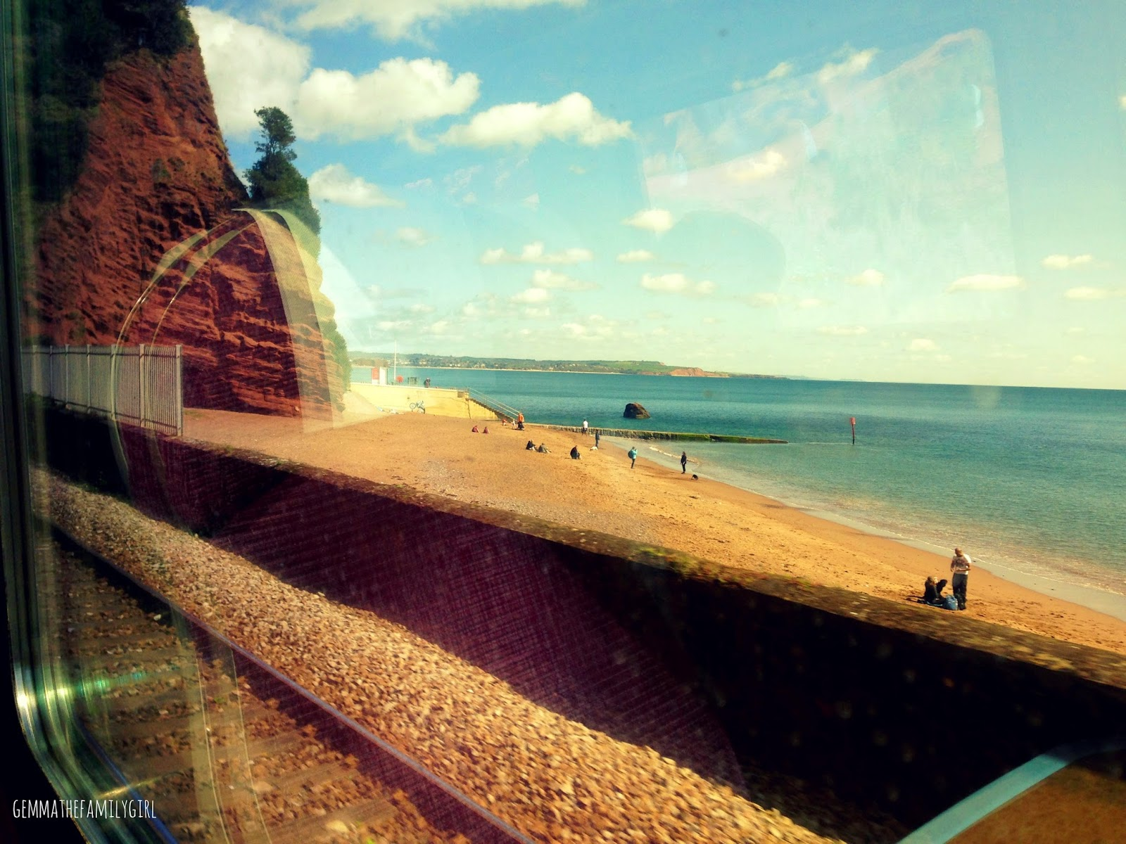 dawlish, devon, train, tracks, summer, spring, beach, train line, main, coast,