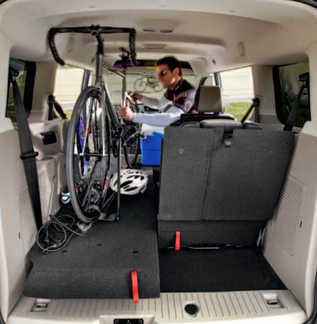 Fitting a bike in a Ford Transit Connect