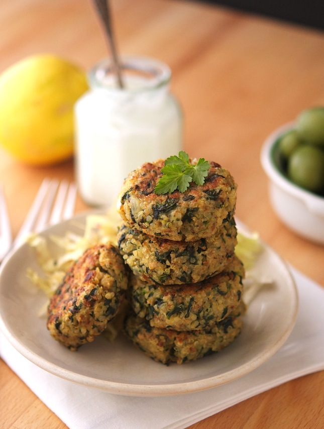 Greek Style Quinoa Patties With Tzatziki Sauce