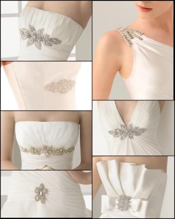 novia moderna y mas: adornos para vestidos de novia de rosa clará