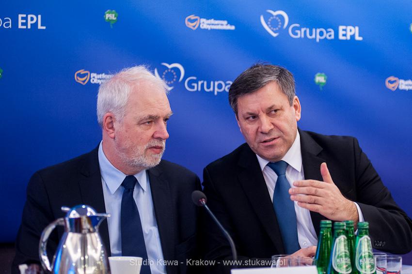 Konferencja EPP/EPL w Krakowie. Event, obsluga fotograficzna, nz. Janusz Piechociński, wicepremier i Jan Olbrycht