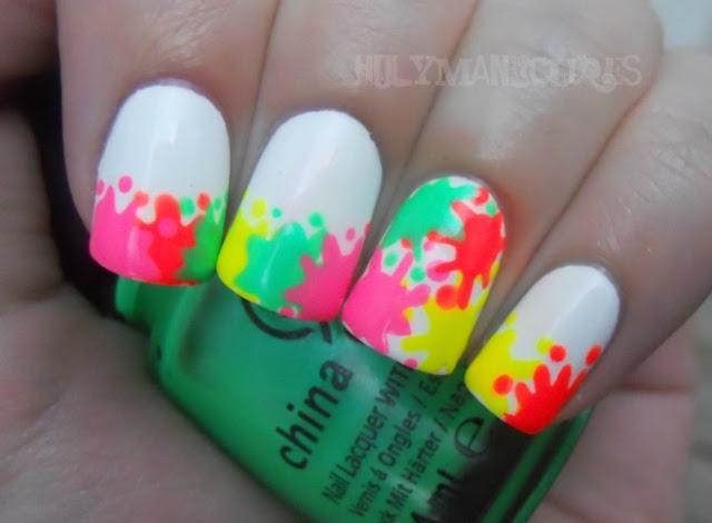 The Breathtaking Neon colors nail designs Image