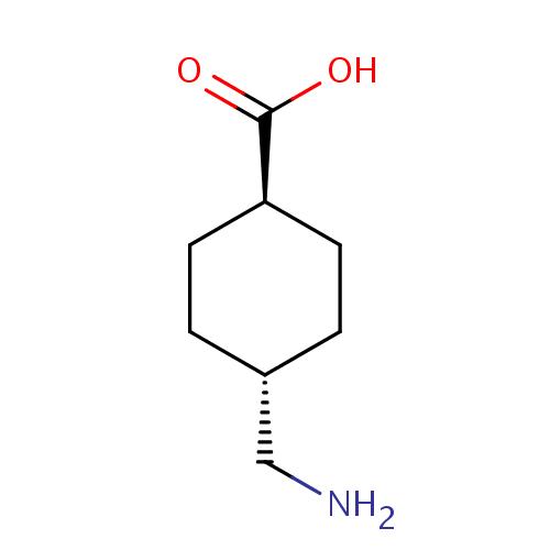 Rumus Struktur Kimia Asam Traneksamat (Tranexamic acid)