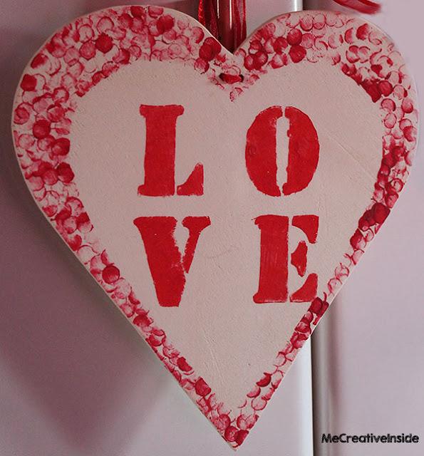 diy cuore di legno con stencil me creative inside