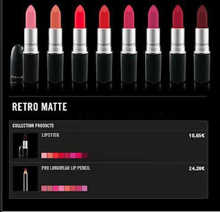 MAC - RETRO MATTE - mood - prodotti - prezzi - price rossetti opachi - lipstick lip pencil - Prep + prime lip  - Flat Out Fabulous Lipstick  - Fashion Boost Pro Longwear lip pencil