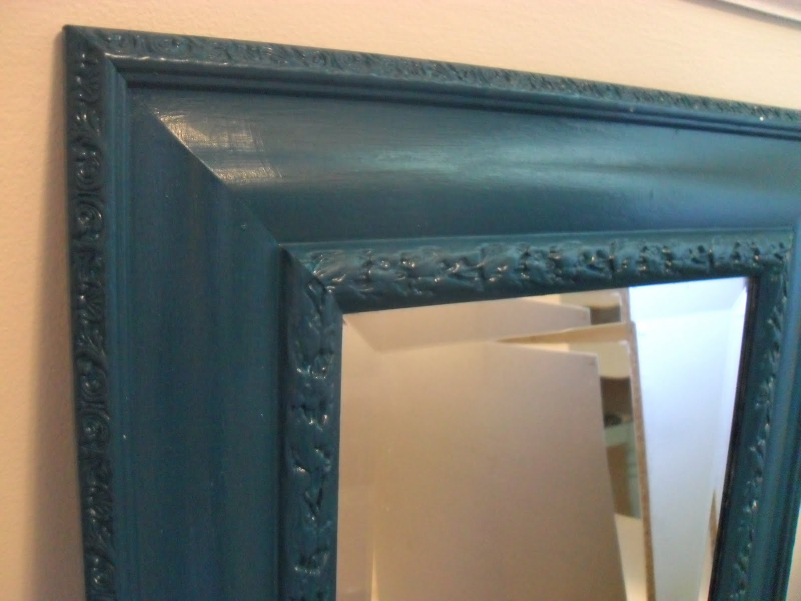 The remodeled life no cost frame redos for Teal framed mirror