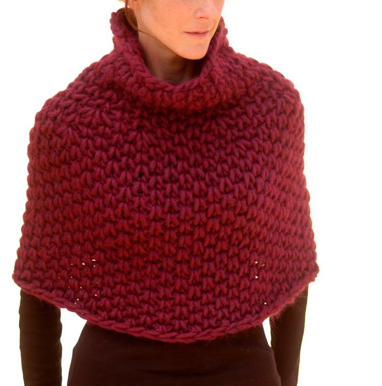 Knit Capelet Pattern : Knit 1 LA: Knitting: Premium Patterns