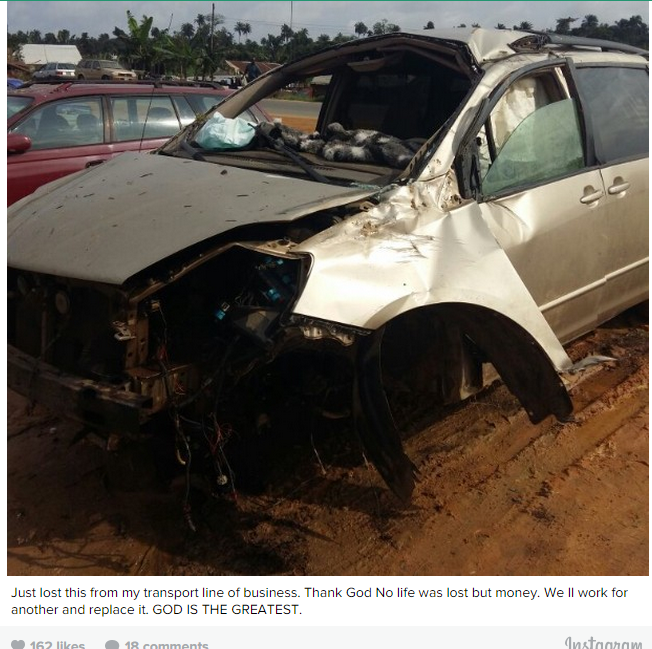 PHOTO: Popular Actor Loses Vehicle In An Accident