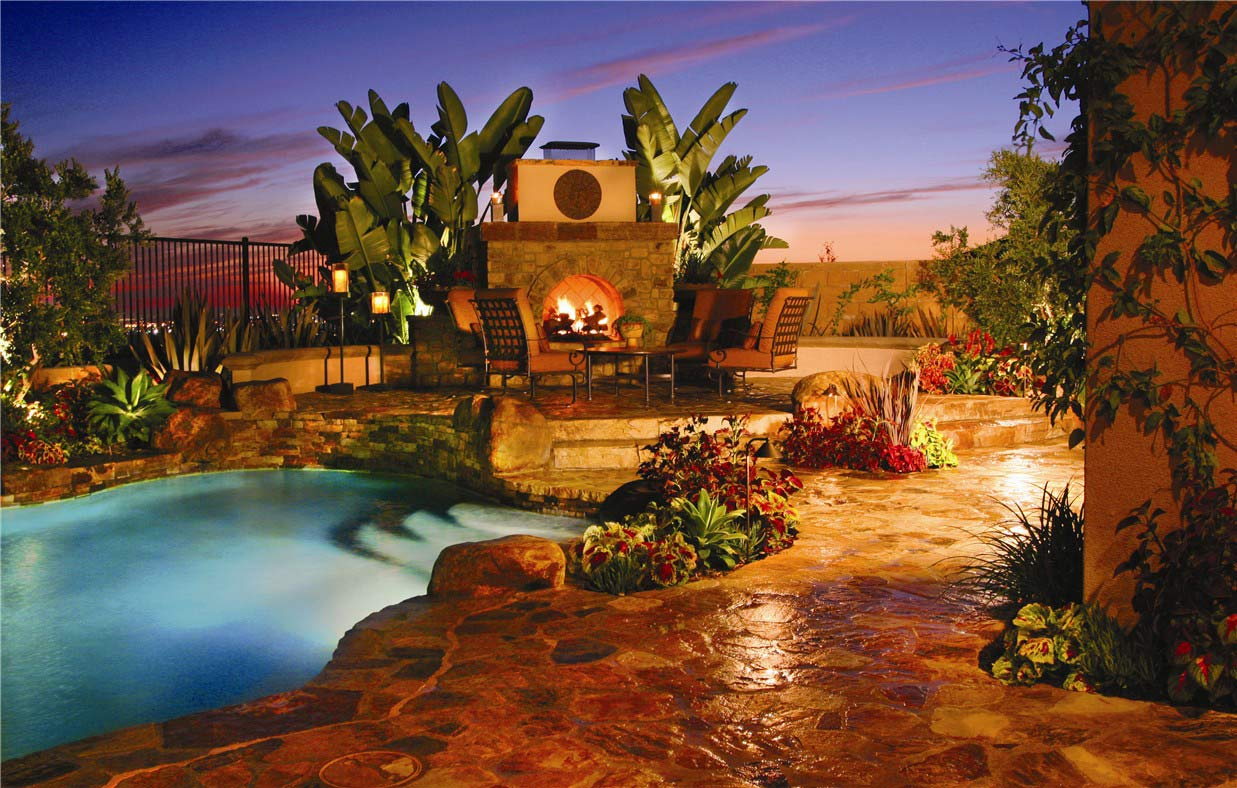 Backyard Pool Swimming Landscaping Design