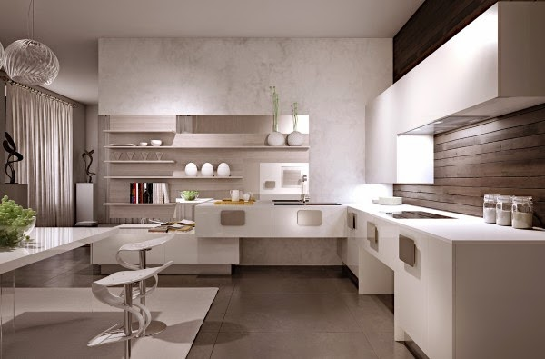 Cool contemporary minimalist kitchen styles and concepts for Modern day kitchen designs