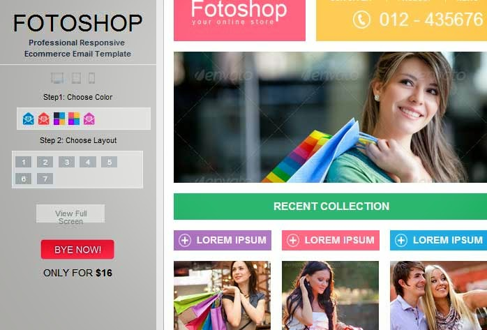 Fotoshop – Responsive Ecommerce Email Newsletter