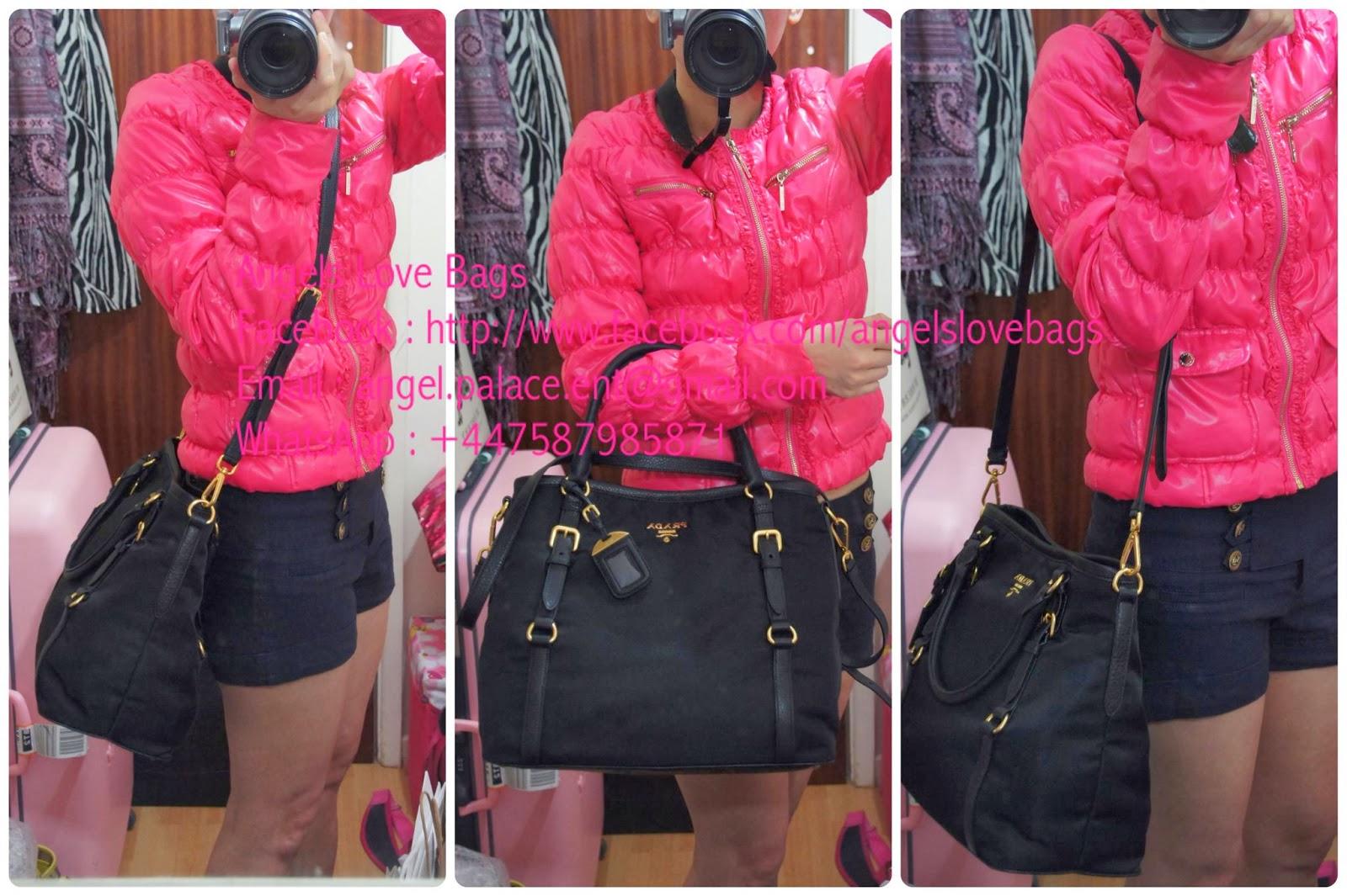 prada handbags grey - Angels Love Bags - The Fashion Buyer: ? PRADA Tessuto + Vitello ...