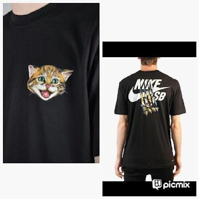 T Shirt Nike Cat Black
