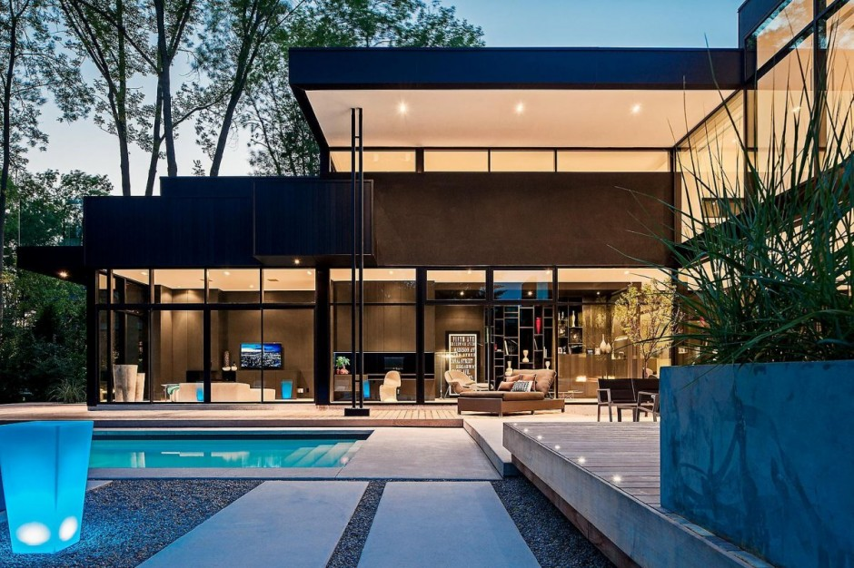 2 storey modern home in ontario canada most beautiful for Most modern house in the world