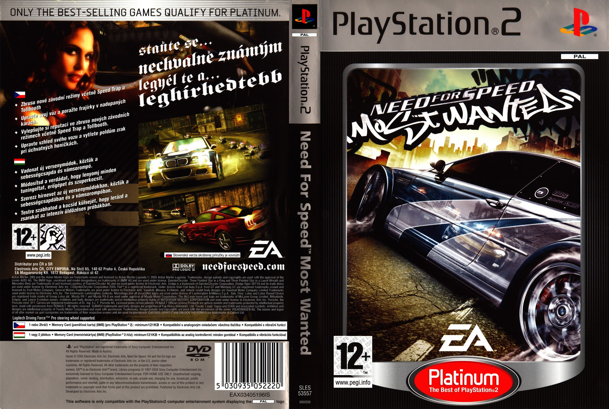 Need For Speed Most Wanted Platinum Playstation 2