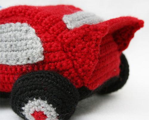 Spoiler macchina Cars amigurumi