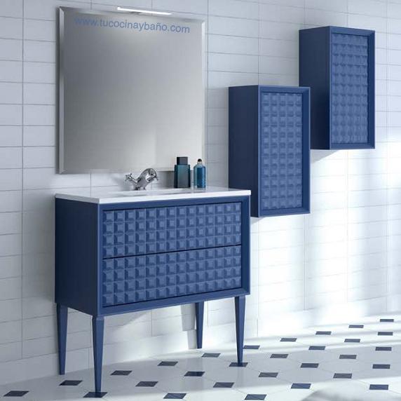 precio mueble de baño diseño capitone moderno