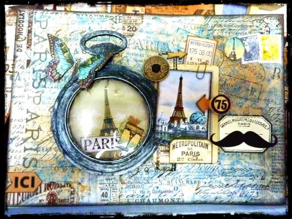 Scrap recup 39 carte postale et pochette vintage paris - Pochette plastique pour carte postale ...