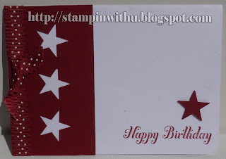 Simple Stary Birthday Card