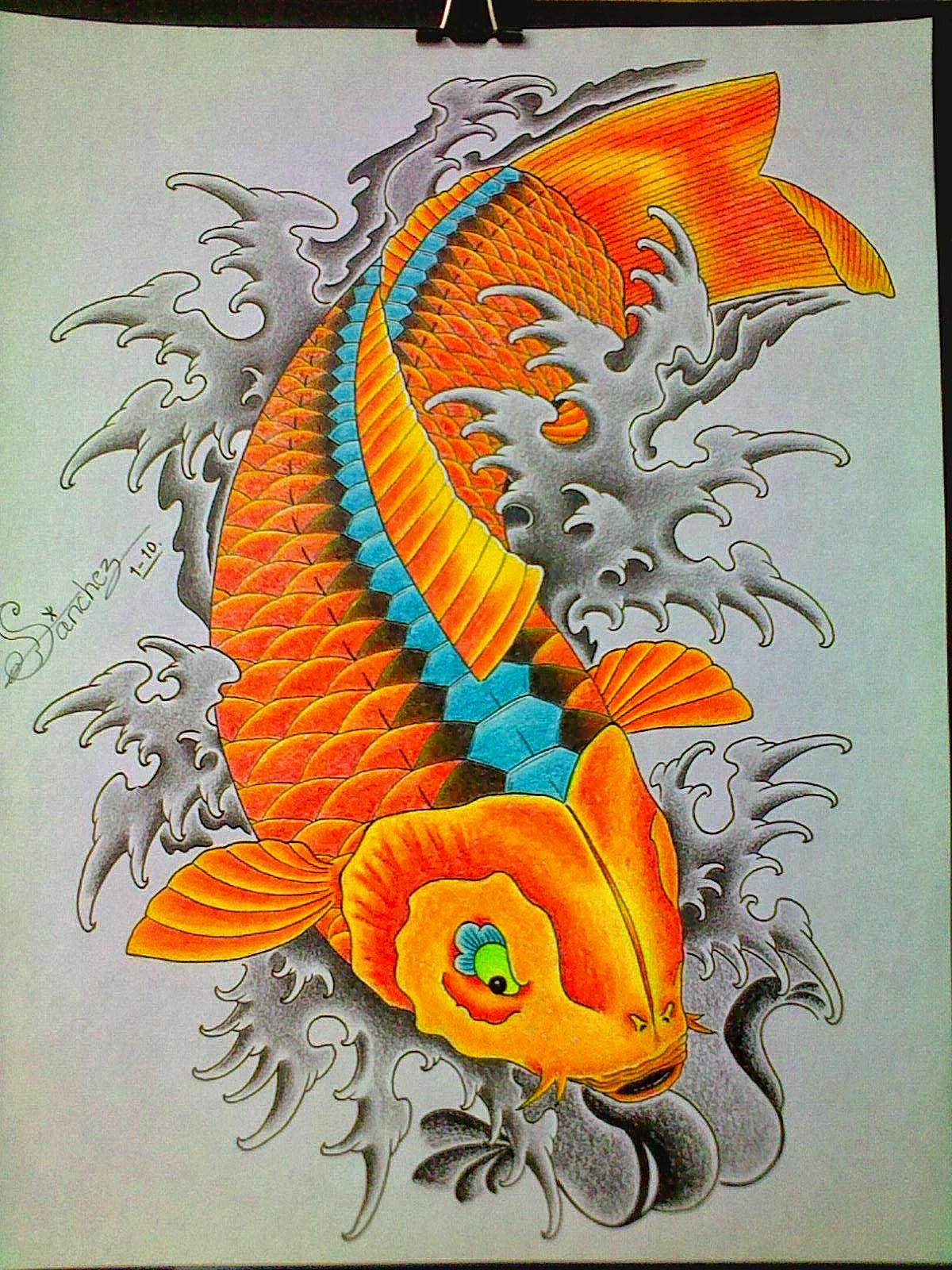 El Color Del Pez Koi Para Tu Tatuaje Taringa Of De Donde Es El Pez ...