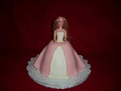 Rózsaszín fehér barbie