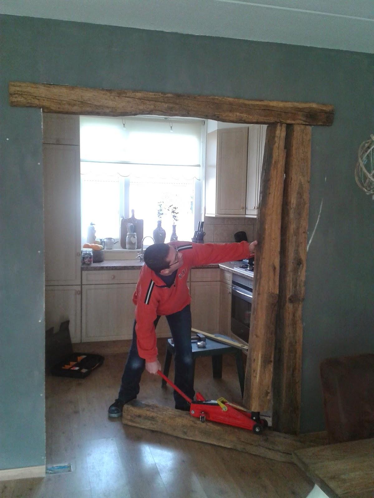 Wonen in je eigen stijl: oude gebinten in onze woonkamer