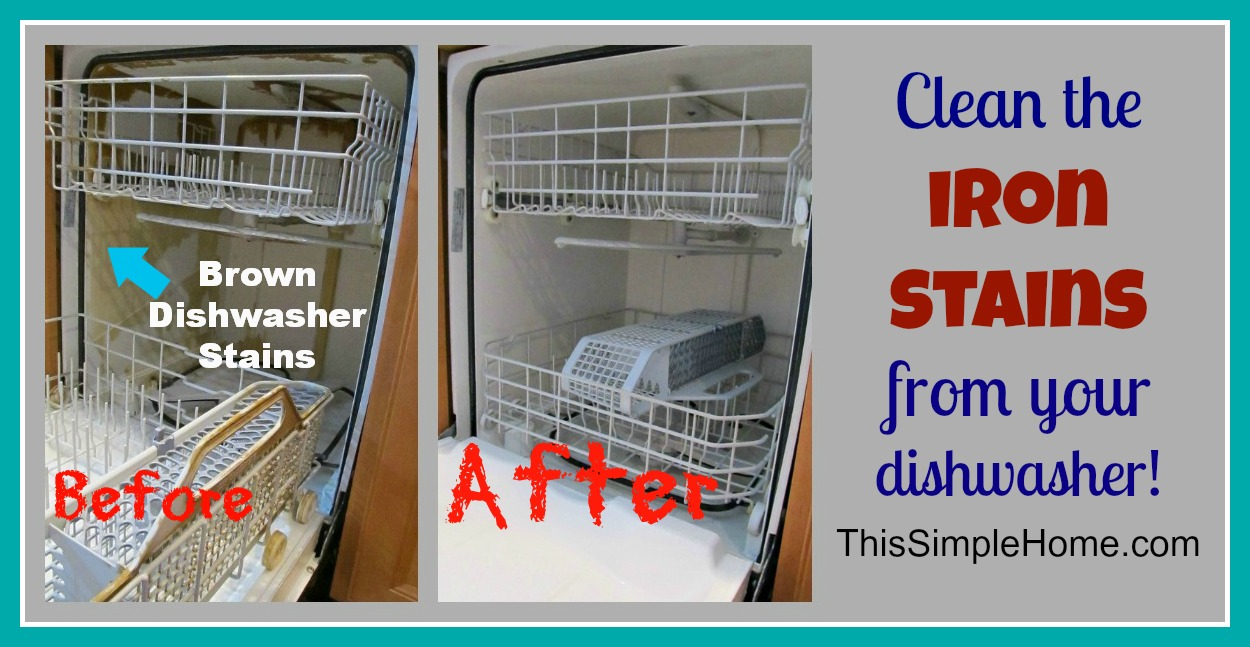 This Simple Home How To Clean Brown Dishwasher Stains The