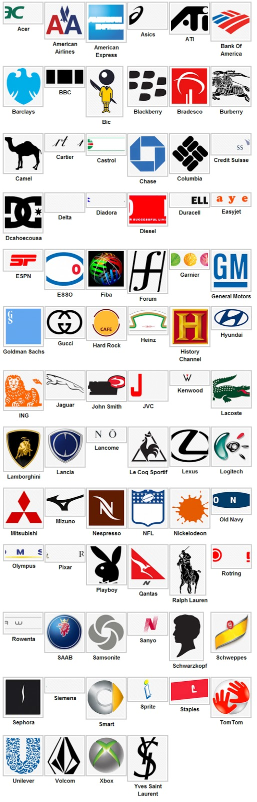 logos level 5 Logo Quiz Answers 2013