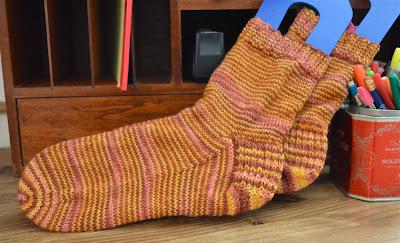 hand knit socks for me.