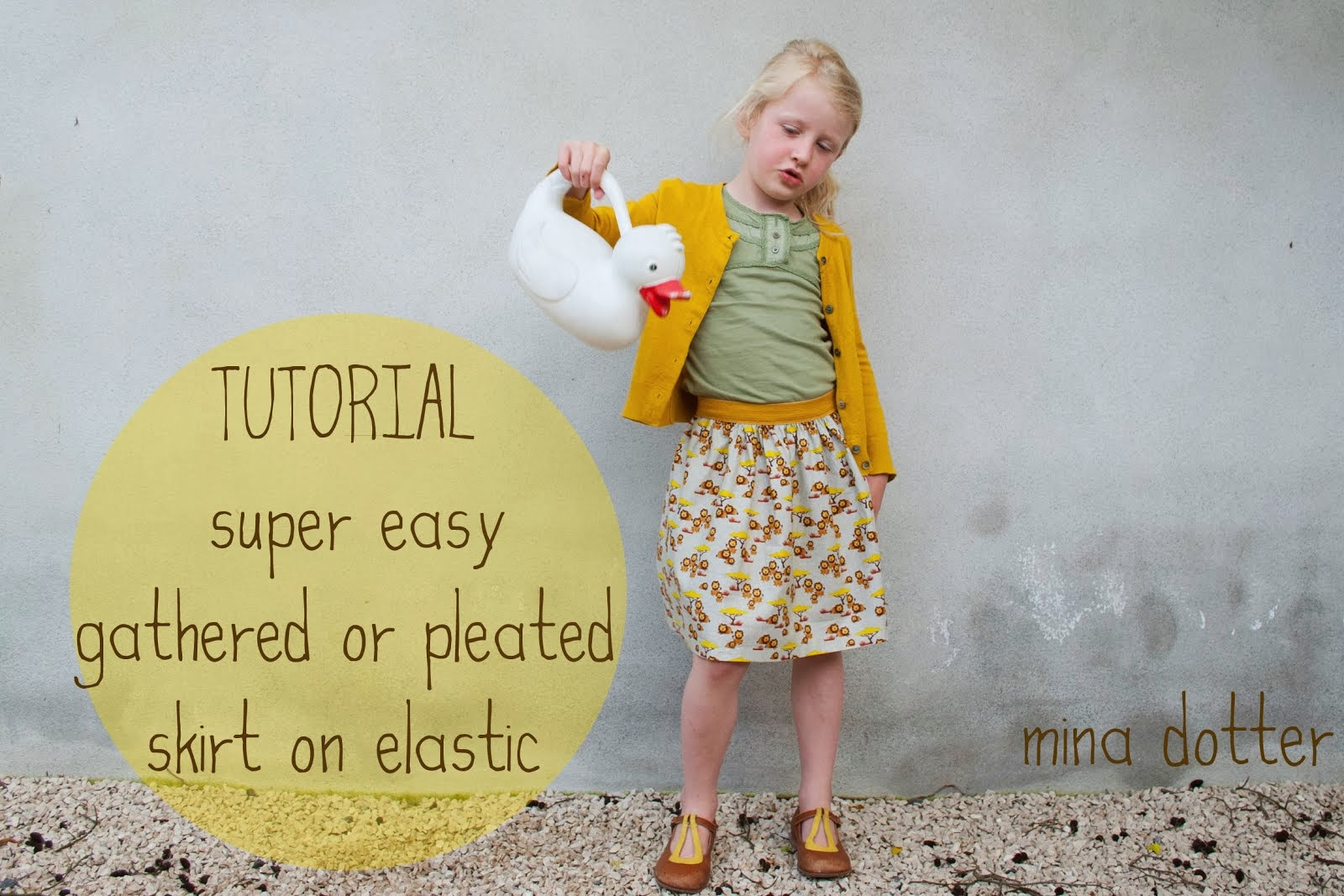 TUTORIAL EASY GATHERED SKIRTS ON ELASTIC WAISTBAND
